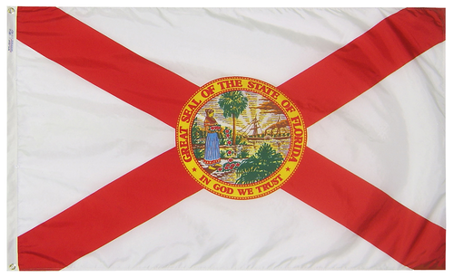 Florida - State Flag (finished with heading and grommets)