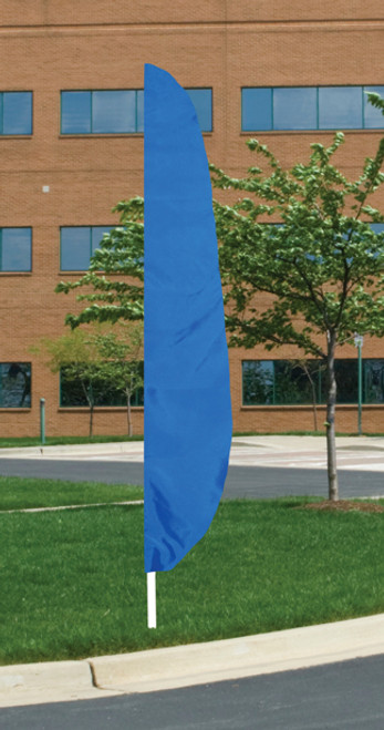 """Flutter Flag in Solid Color - Royal Blue - 26""""x12' - For Outdoor Use"""