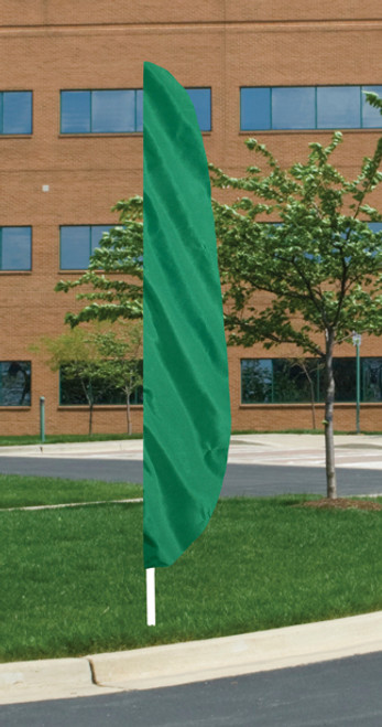 """Flutter Flag in Solid Color - Emerald Green - 26""""x12' - For Outdoor Use"""