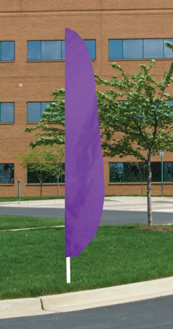 "Flutter Flag in Solid Color - Lavender - 26""x12' - For Outdoor Use"