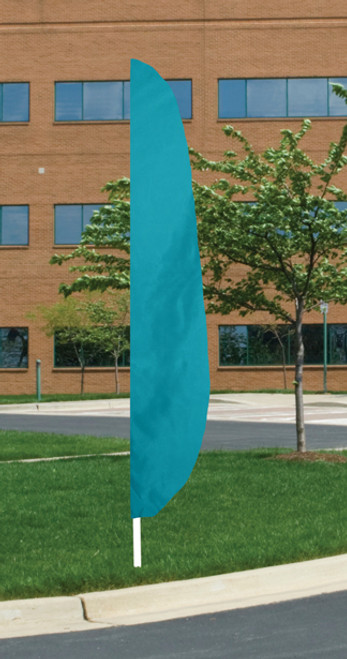 "Flutter Flag in Solid Color - Parrot Blue - 26""x12' - For Outdoor Use"