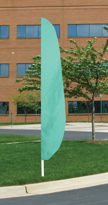 "Flutter Flag in Solid Color - Aqua - 26""x12' - For Outdoor Use"
