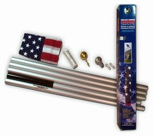 Flagpole - 20' Sectional Aluminum Kit - Heavy Duty