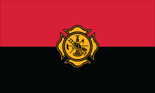 Fireman Remembrance Flag - 3'x5' - For Outdoor Use