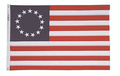 Betsy Ross (13 Stars) American Flag - 3'x5' - For Outdoor Use