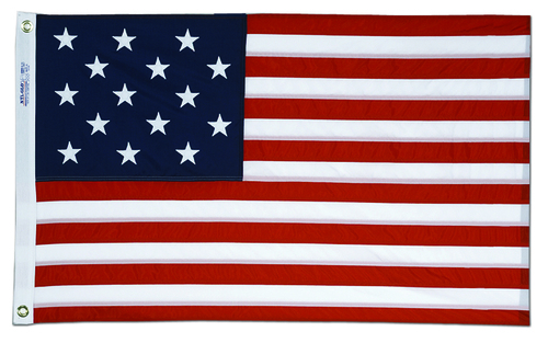 Star Spangled (15 Stars) American Flag - 3' x 5'
