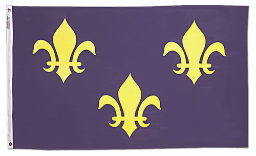 French Fleur de Lis Flag - 3'x5' - For Outdoor Use