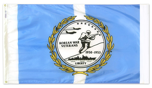 Korean War Veterans Flag - 3'x5' - For Outdoor Use