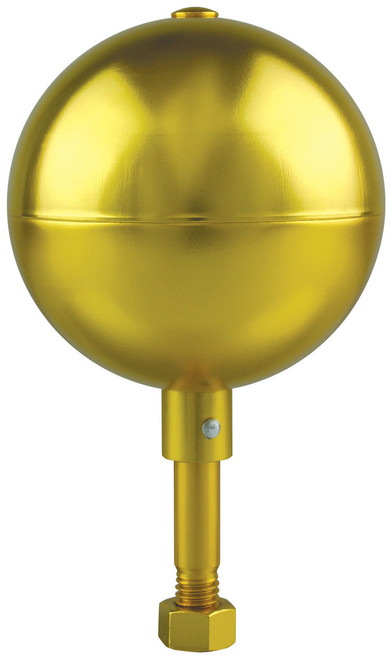 Gold Finish Aluminum Ball Top for Commercial Flagpoles