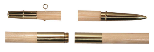Gold Fittings for Guidon Pole Set
