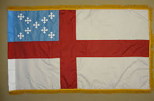 Episcopal Flag with Fringe - For Indoor Use