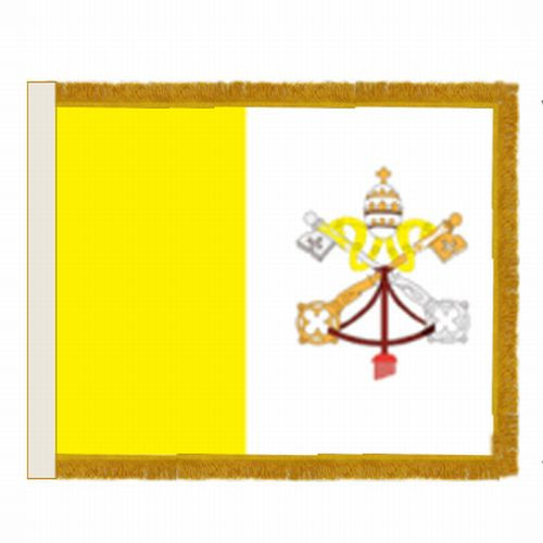 Papal Flag with Fringe - For Indoor Use