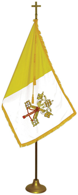 Papal Flag Set - For Indoor Use