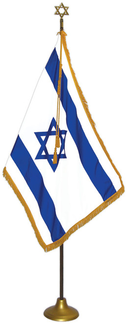 Israel Flag Set - For Indoor Use