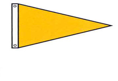 Attention Flag - Pennant Shape - Solid Color - For Outdoor Use