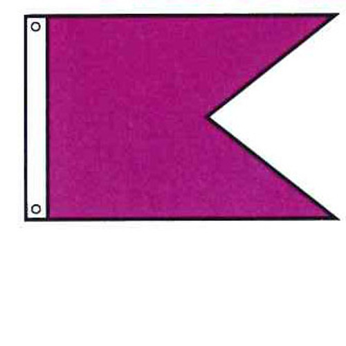 Attention Flag - Burgee Rectangle Shape - Solid Color