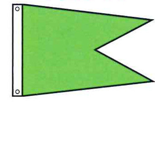 Attention Flag - Burgee Angle Shape - Solid Color