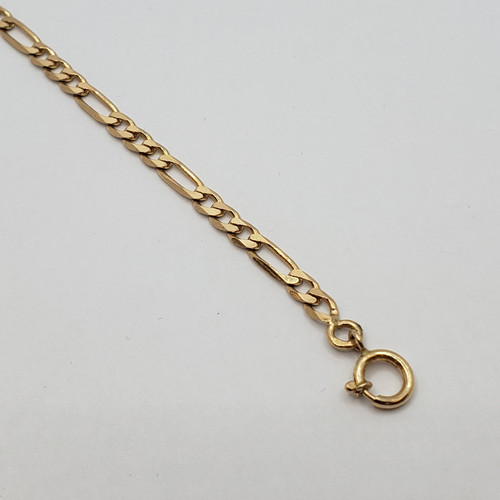 19.2k Portuguese Gold 3 by 1 Bracelet
