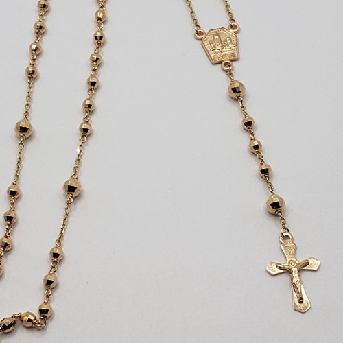 19.2k Portuguese Gold Rosary necklace
