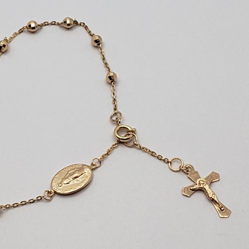 19.2k Portuguese Gold Rosary Bracelet