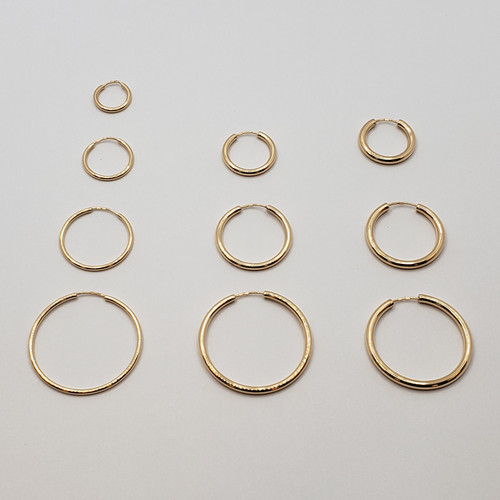 19.2k Portuguese Gold Endless Hoops