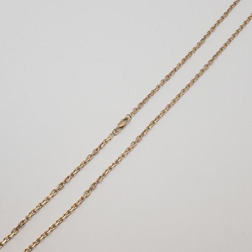 19.2k Portuguese Gold Men's Bevel Cable Link Chain 18.8gr
