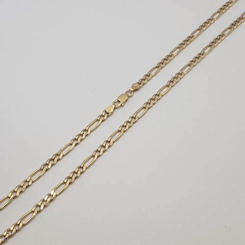 18k Yellow gold 3 by 1 link Chain Thick