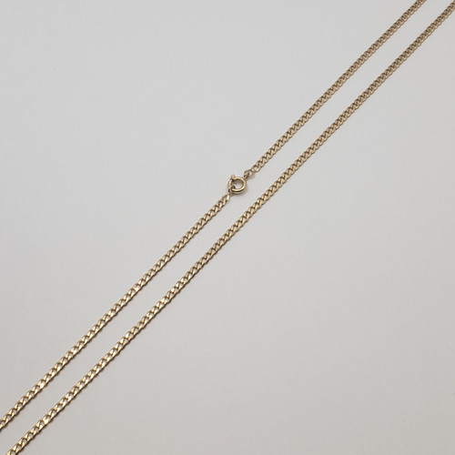 19.2k Portuguese Gold Flat Beveled Curb Chain 10.6gr