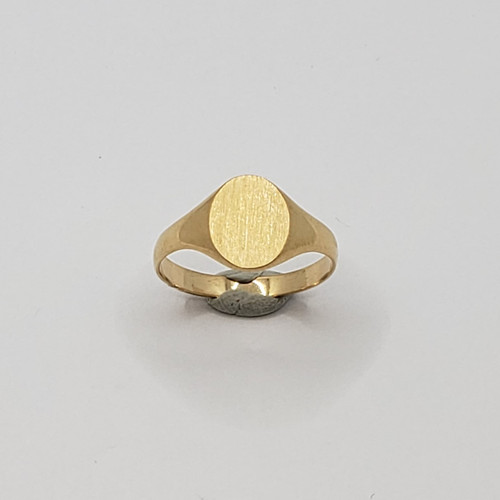 19.2k Portuguese  Gold Portugal Oval Signet Ring