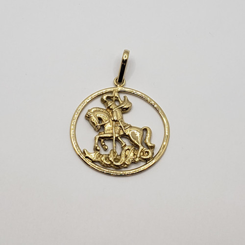 18k Yellow Gold St. Jorge  Medal