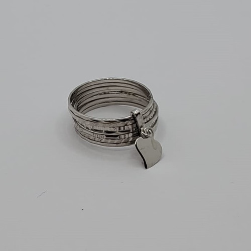 19.2k Portuguese White Gold 7 Day Ring