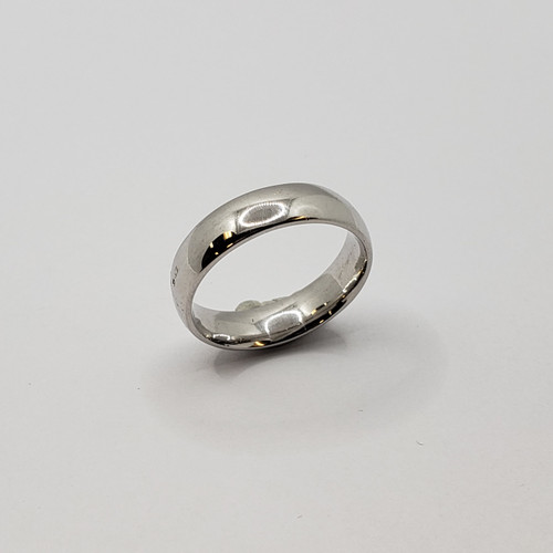 19.2k Portuguese White Gold 6mm Wedding Band