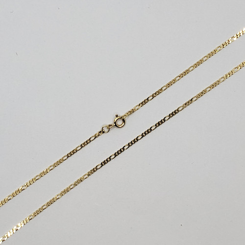 18k Yellow Gold 3by1 link Chain