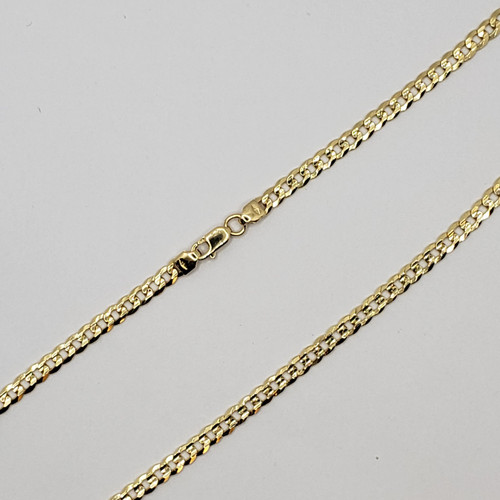 18k Yellow Gold Gold Heavy Curb link Chain