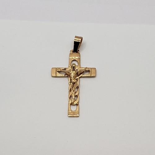 19.2k Portuguese  Gold Link Crucifix