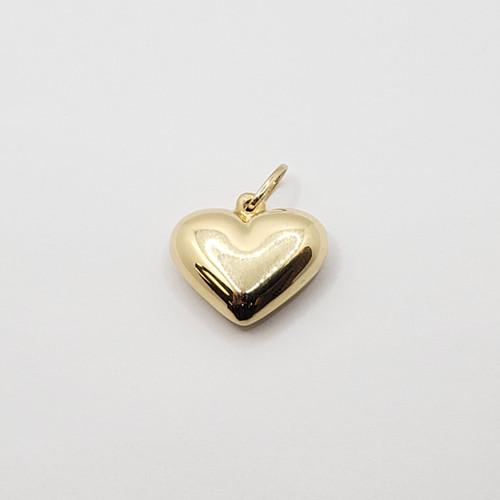 18k Yellow Gold Hollow Heart Pendant