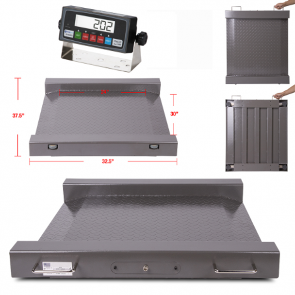 PS-RAW Roll A Weigh1000lbs  Drum / Wheel Chair Scale Free shipping