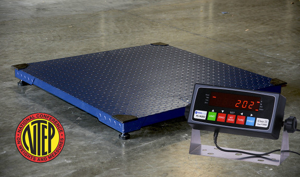 "NTEP Certified Legal for trade 5' x 5' (60"" x 60"") 2500 LB x 0.5 LB Pallet  Floor Scale"