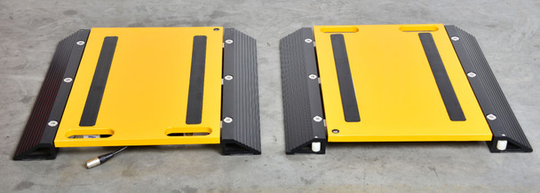 """PS-60KWP2  27.5"""" x 16.5"""" x 1.2"""" Portable Vehicle Axle Truck Scale weigh pads  with Printing Indicator"""