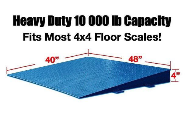 "Prime 48"" x 40"" Steel Ramp for Floor and Pallet scales"