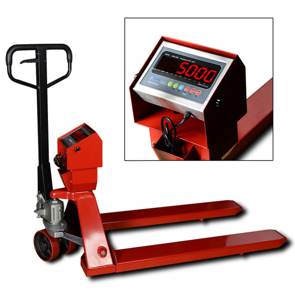 PEC-5500 5500lb x 1lb Pallet Truck Jack Scale with Indicator Free Shipping