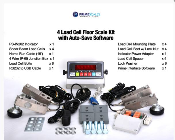 Prime Scales Platform Pallet Floor Scale Kit