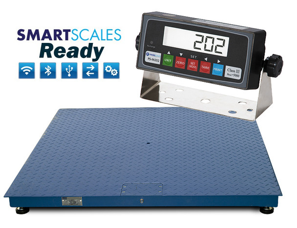 """NEW 10,000lbs x 1lb 4'x8' (48"""" x 96"""") Pallet Floor Scale and Indicator Package"""