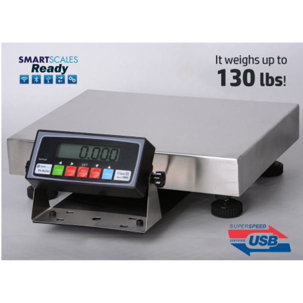 Prime Scales PS-B130 130x0.005lb Extremely Accurate Bench Scale | Shipping Scale |