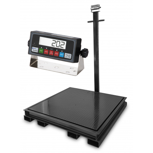"""Prime  4' x 4' (48"""" x 48"""") Pallet Floor Scale with Pit Frame with Forklift Channels"""