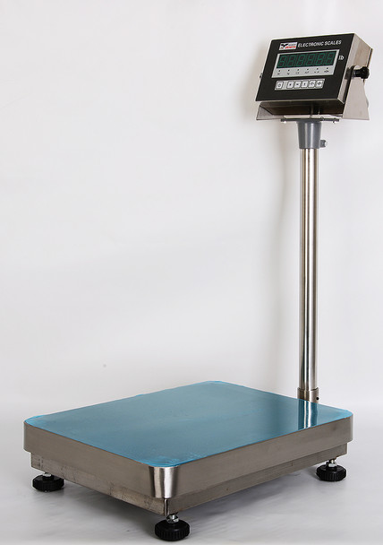 PS-ZB600SS 16x20 600x0.1lb Shipping Bench scale with stainless steel platter