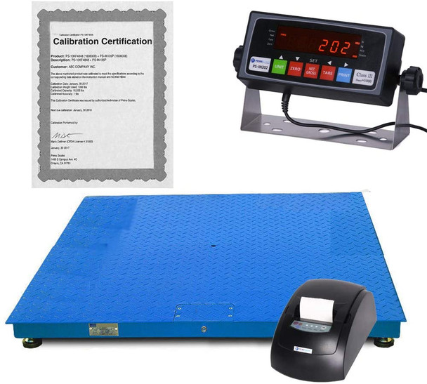 "Prime Umbrella 10000 Lbs x 1 lb 4'x 4' (48"" x 48"")  Pallet Floor Scale w Indicator & Calibration Certificate"