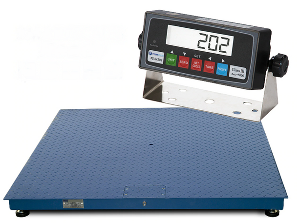 Prime Scales 10000lb / 1lb 4x4 Pallet Floor Scale and Indicator Package