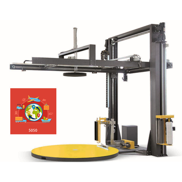 PS-K200 Fully Automatic Stretch Wrapping Machine / Top Sheet Covering with Built-in Scale and Label Printer 50-50 Super Deal Package