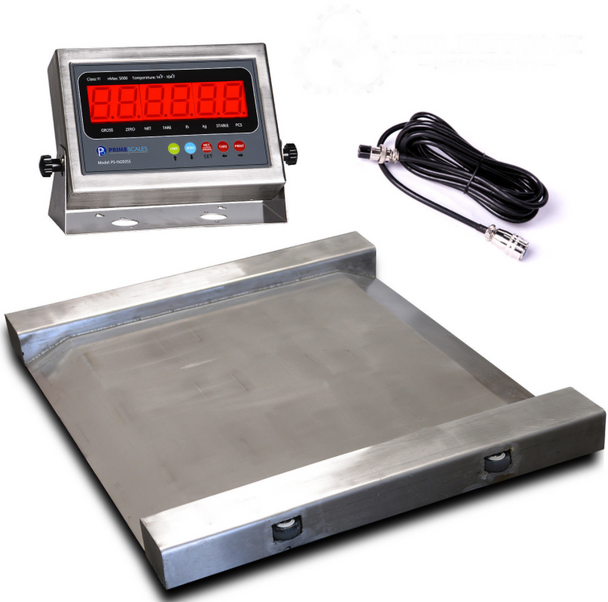 PS-RAWss Heavy-duty 1000 lb x 0.2 lb Roll A Weigh Drum Scale Food Grade 304 Stainless Steel Free Shipping